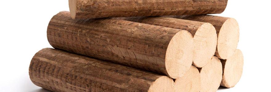 bois de chauffage densifié