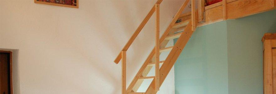 escaliers escamotables avec rampes