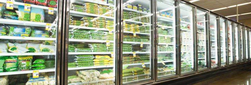 produits alimentaires congelés